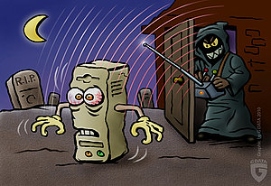 In PC terms, zombies are linked together in botnets.